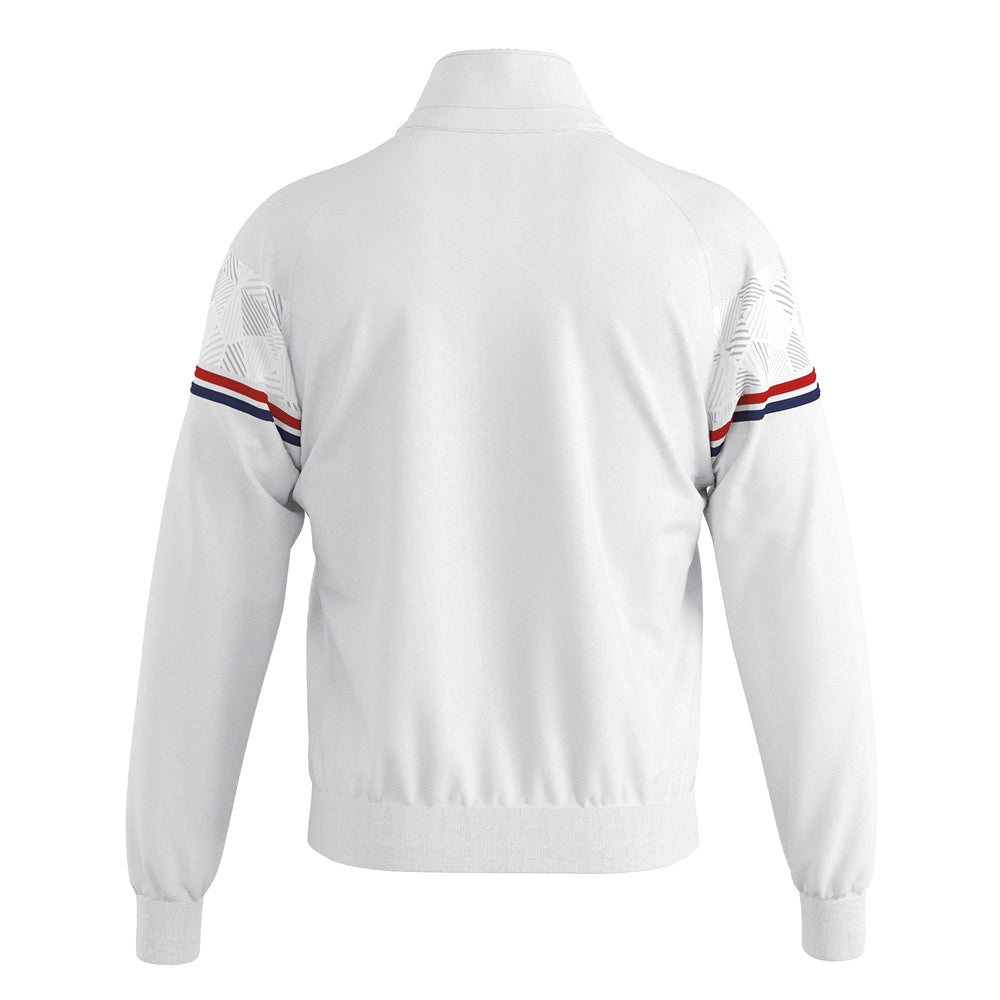 Errea Dexter Full-Zip Jacket (White/Red/Navy)