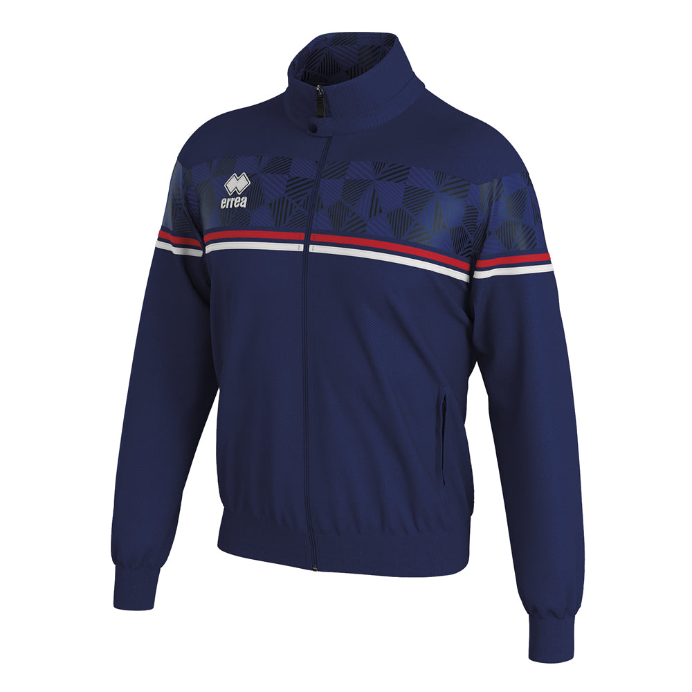 Errea Donovan Full-Zip Jacket (Navy/Red/White)