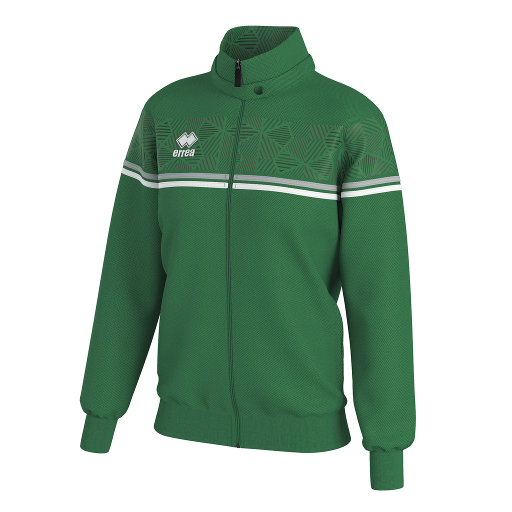 Errea Women's Diana Full-Zip Jacket (Green/Grey/White)