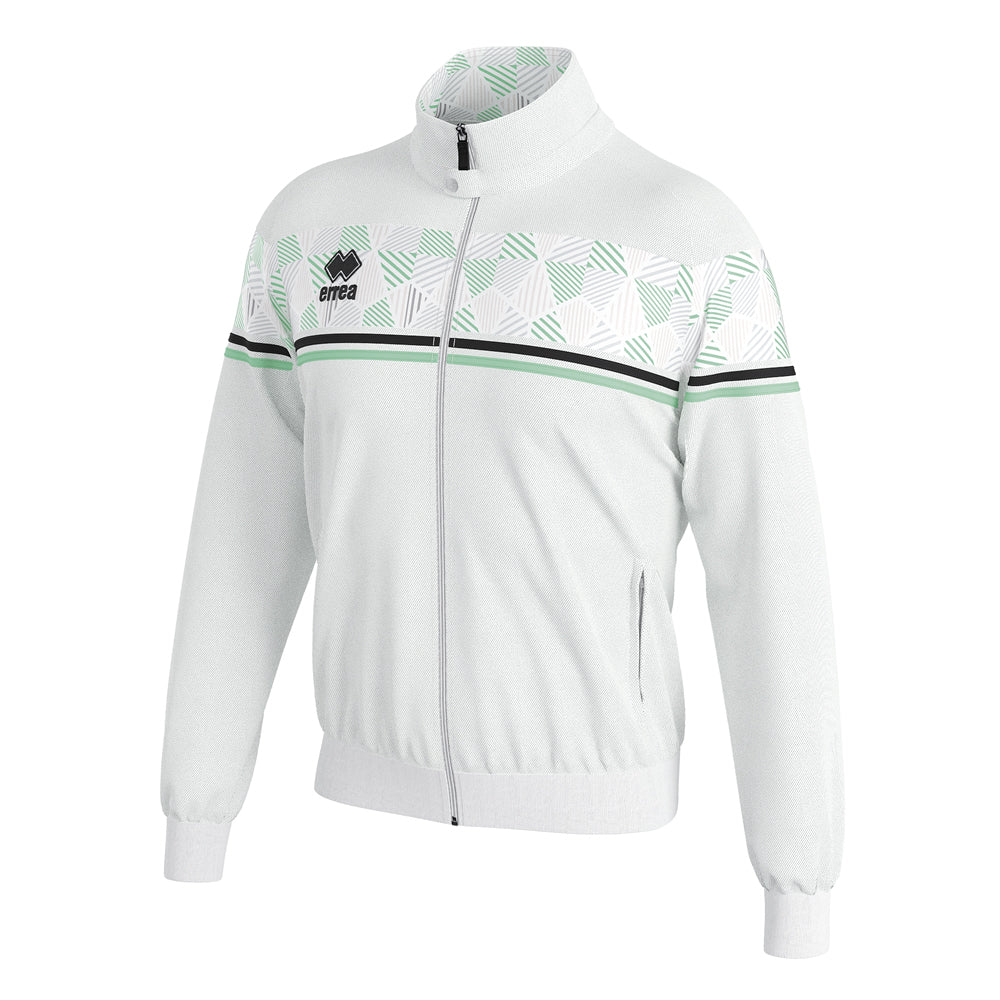 Errea Donovan Full-Zip Jacket (White/Black/After Eight)