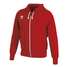 Load image into Gallery viewer, Errea Jacob Full Zip Hooded Top (Red)