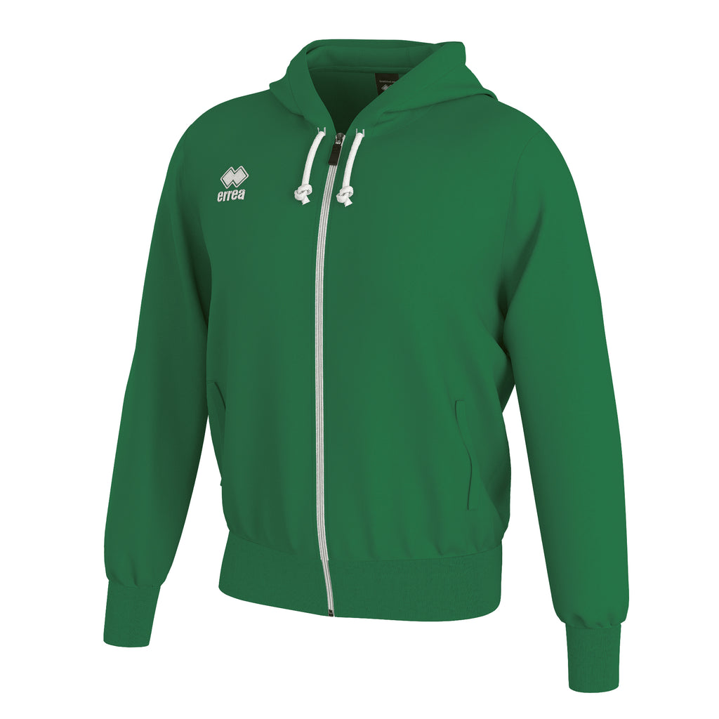 Errea Jacob Full Zip Hooded Top (Green)