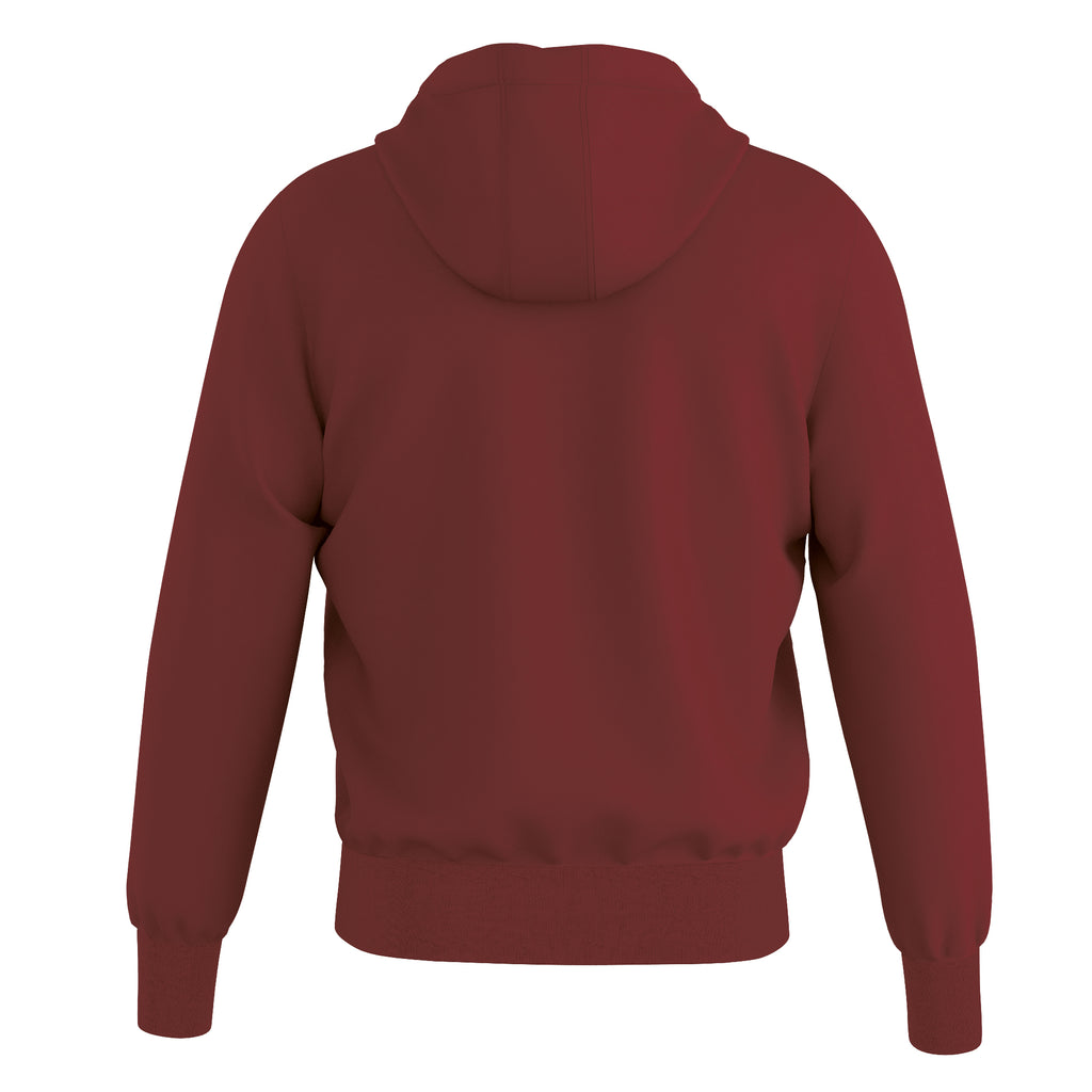 Errea Jacob Full Zip Hooded Top (Maroon)