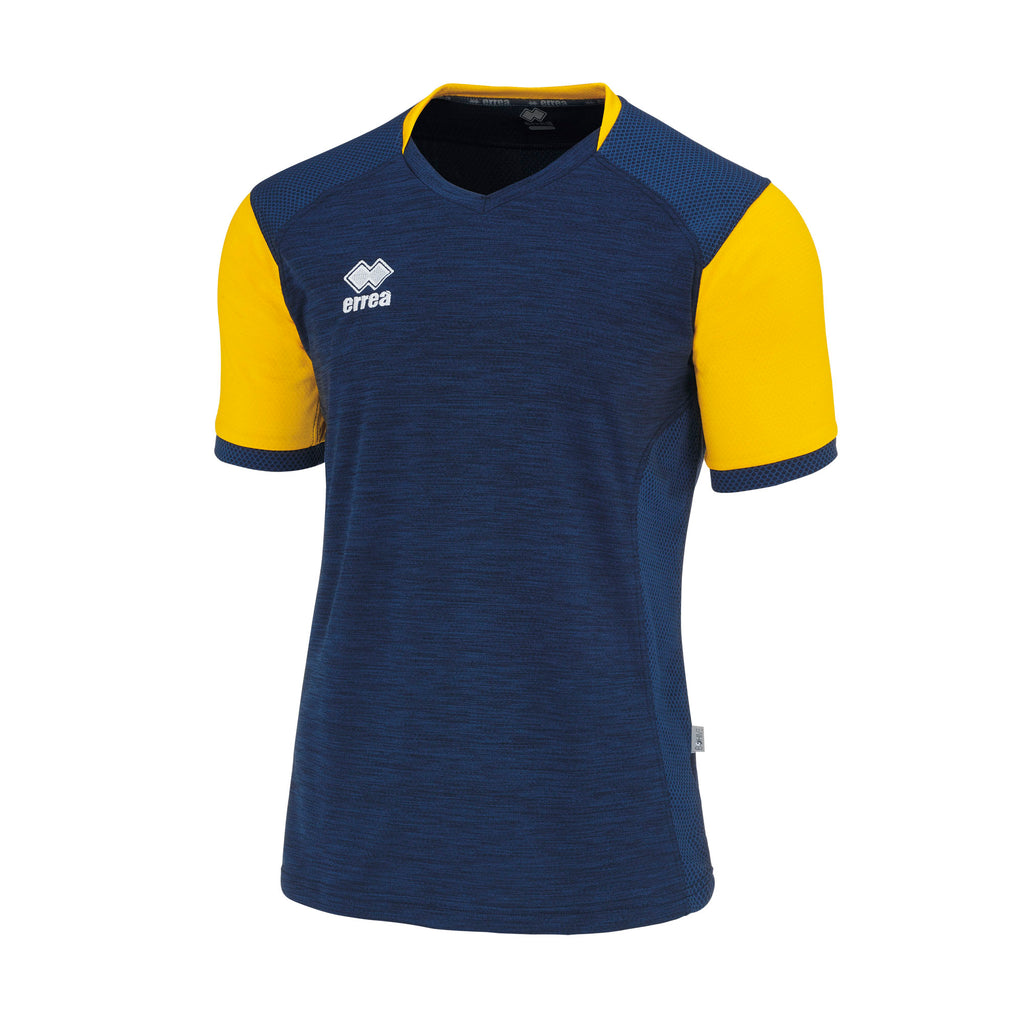Errea Hiro Short Sleeve Shirt (Navy/Yellow)