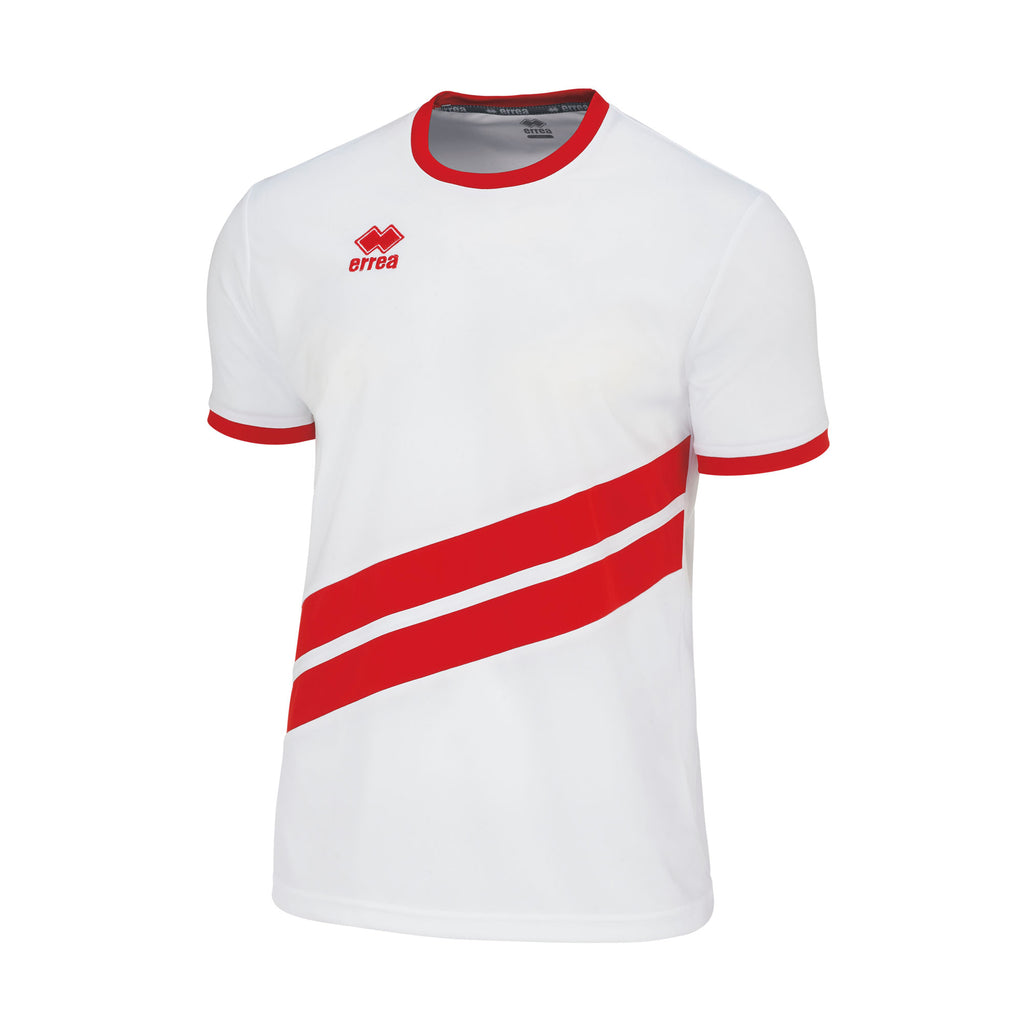 Errea Jaro Short Sleeve Shirt (White/Red)