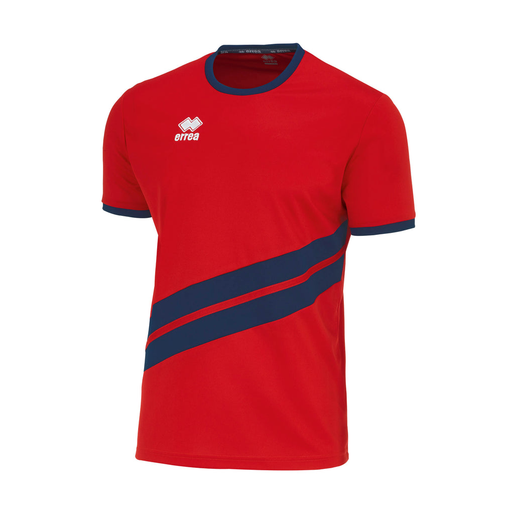 Errea Jaro Short Sleeve Shirt (Red/Navy)
