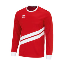 Load image into Gallery viewer, Errea Jaro Long Sleeve Shirt (Red/White)