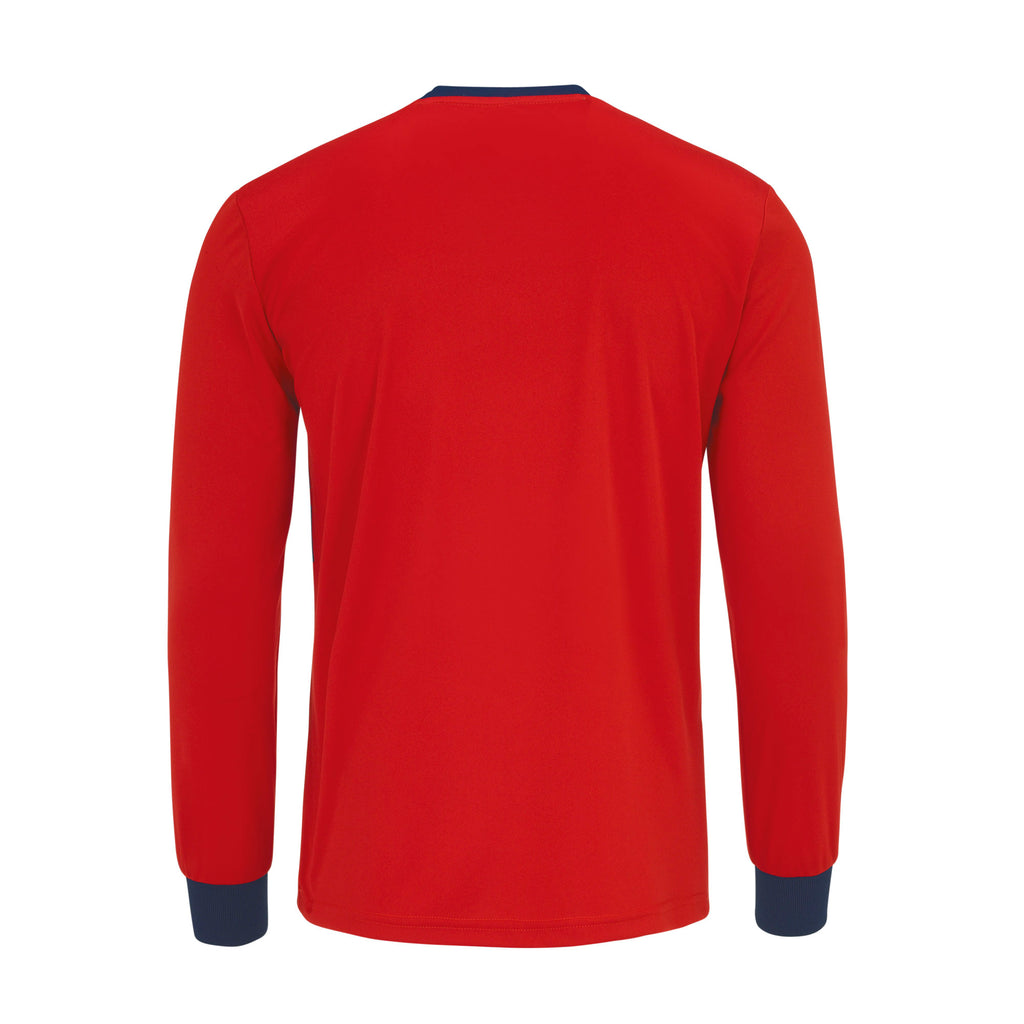Errea Jaro Long Sleeve Shirt (Red/Navy)