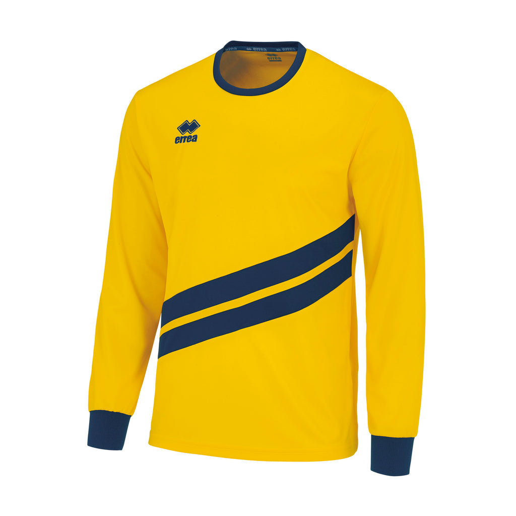 Errea Jaro Long Sleeve Shirt (Yellow/Navy)