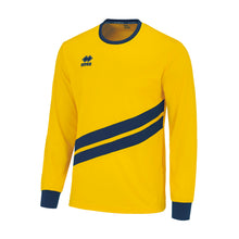 Load image into Gallery viewer, Errea Jaro Long Sleeve Shirt (Yellow/Navy)