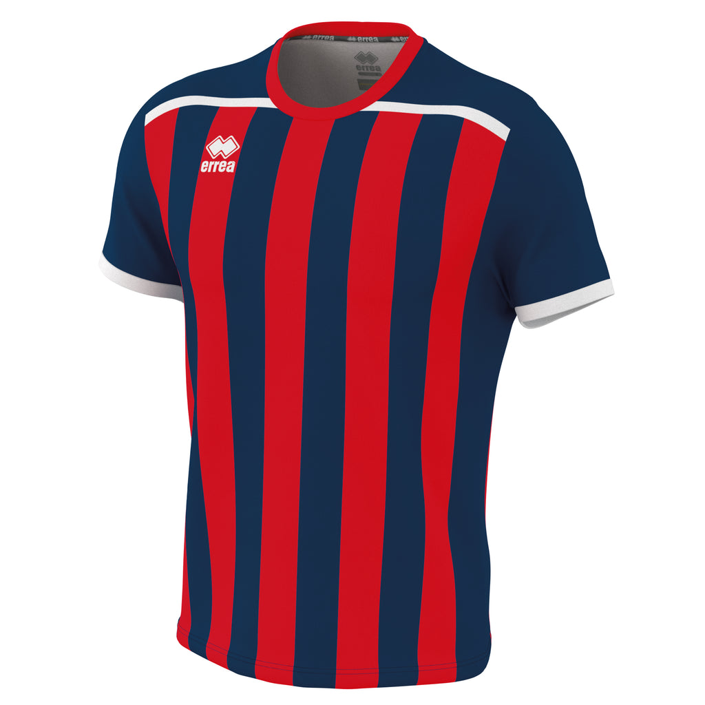 Errea Elliot Short Sleeve Shirt (Navy/Red)