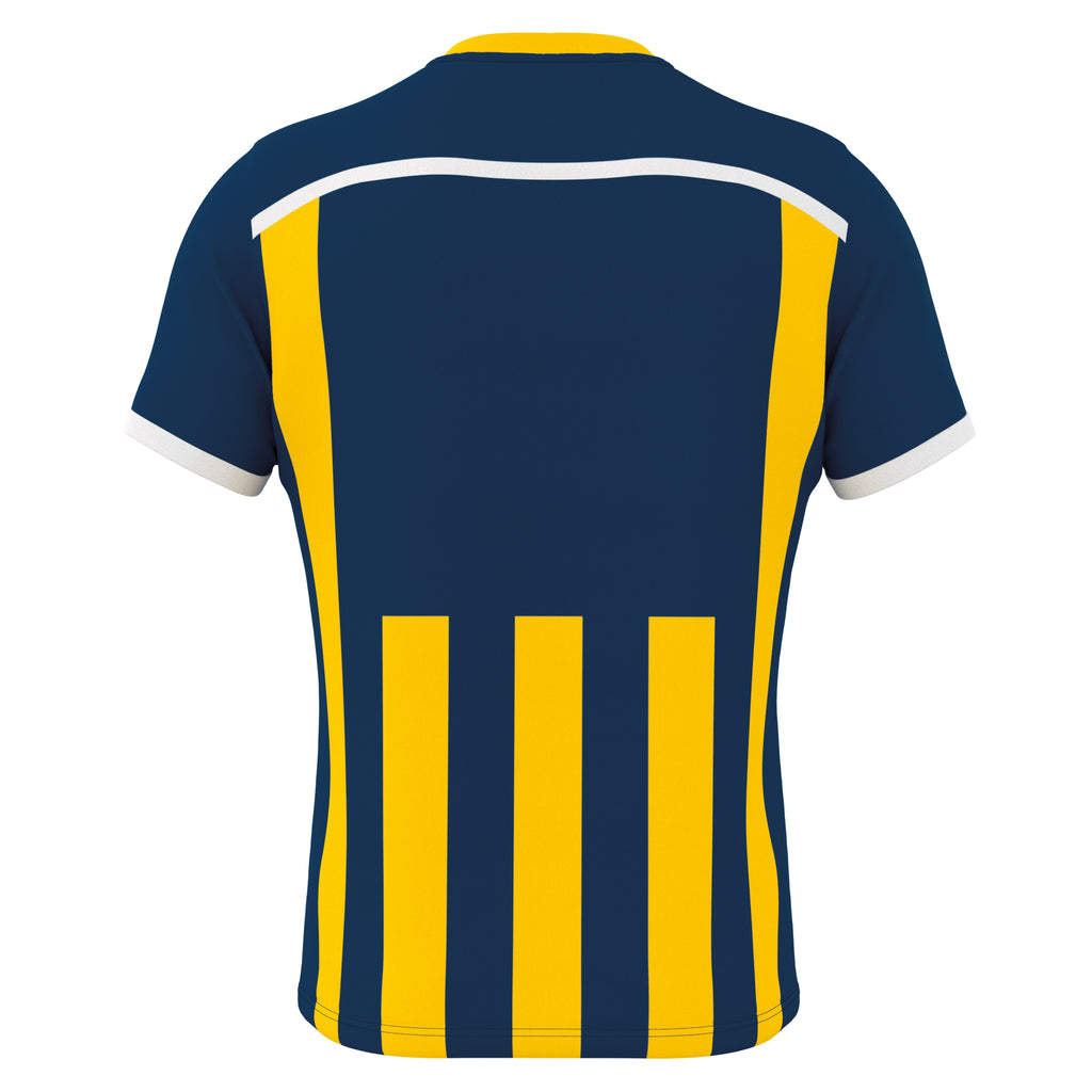 Errea Elliot Short Sleeve Shirt (Navy/Yellow)