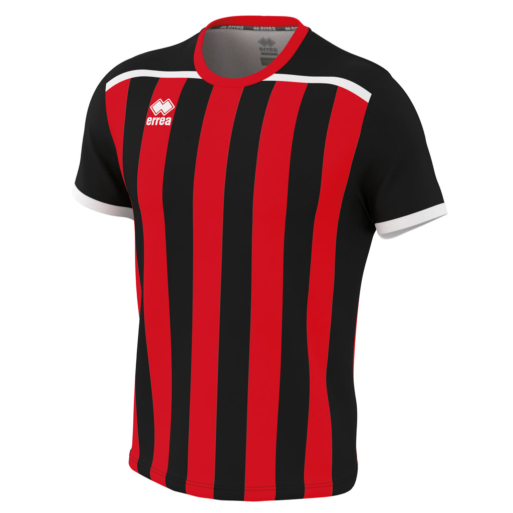 Errea Elliot Short Sleeve Shirt (Black/Red)
