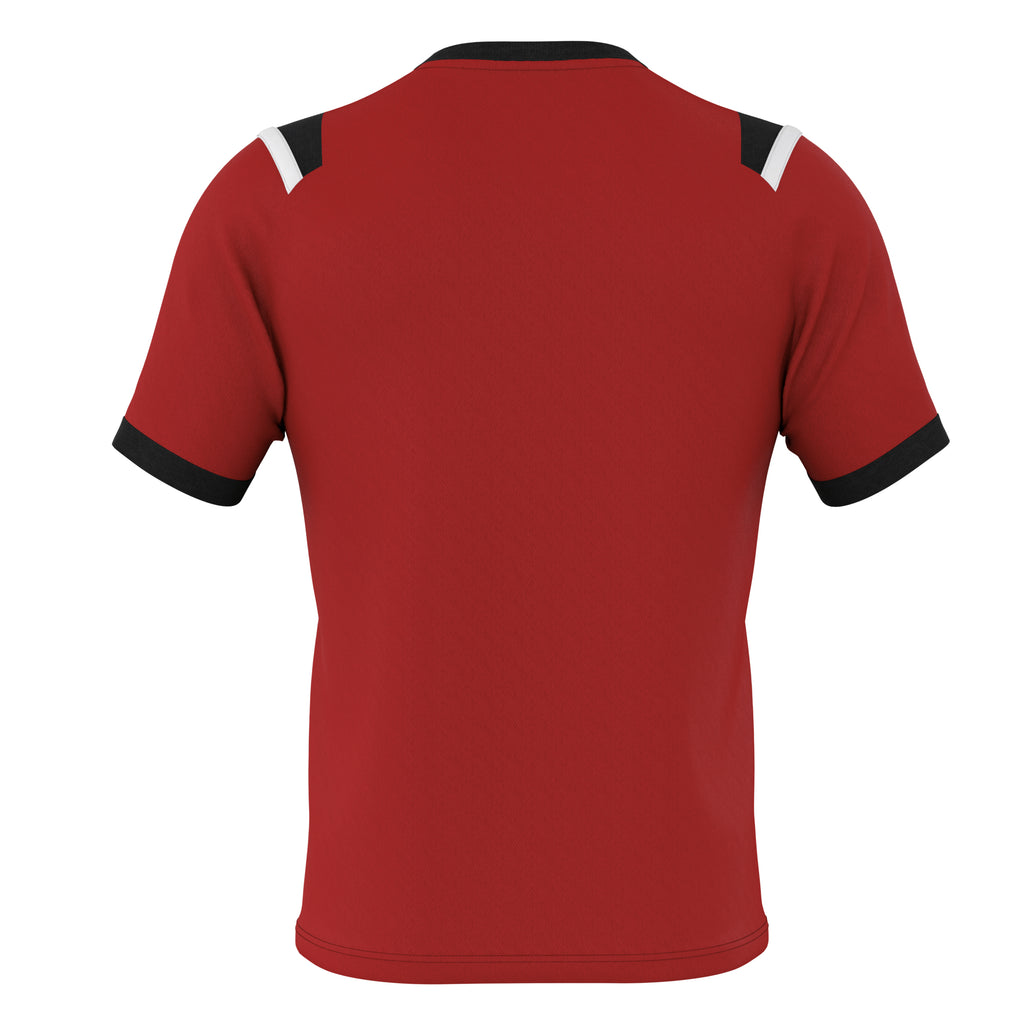 Errea Lucas Short Sleeve Shirt (Maroon/Black/White)