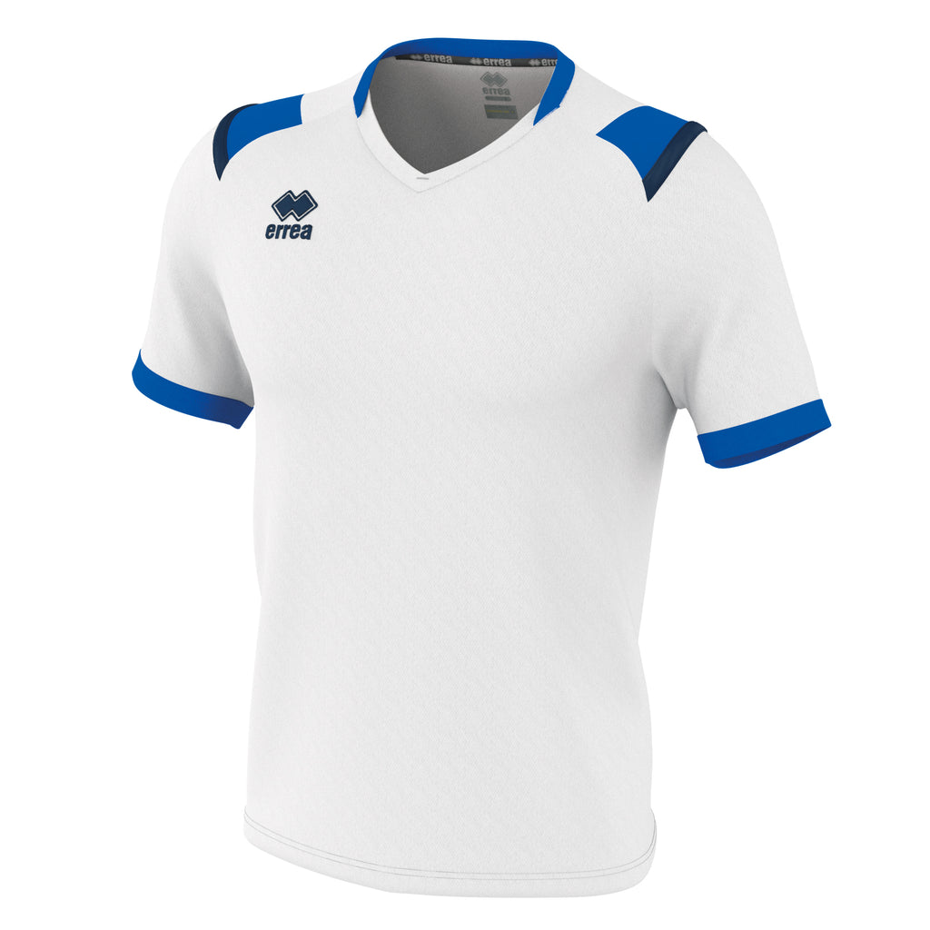 Errea Lucas Short Sleeve Shirt (White/Blue/Navy)