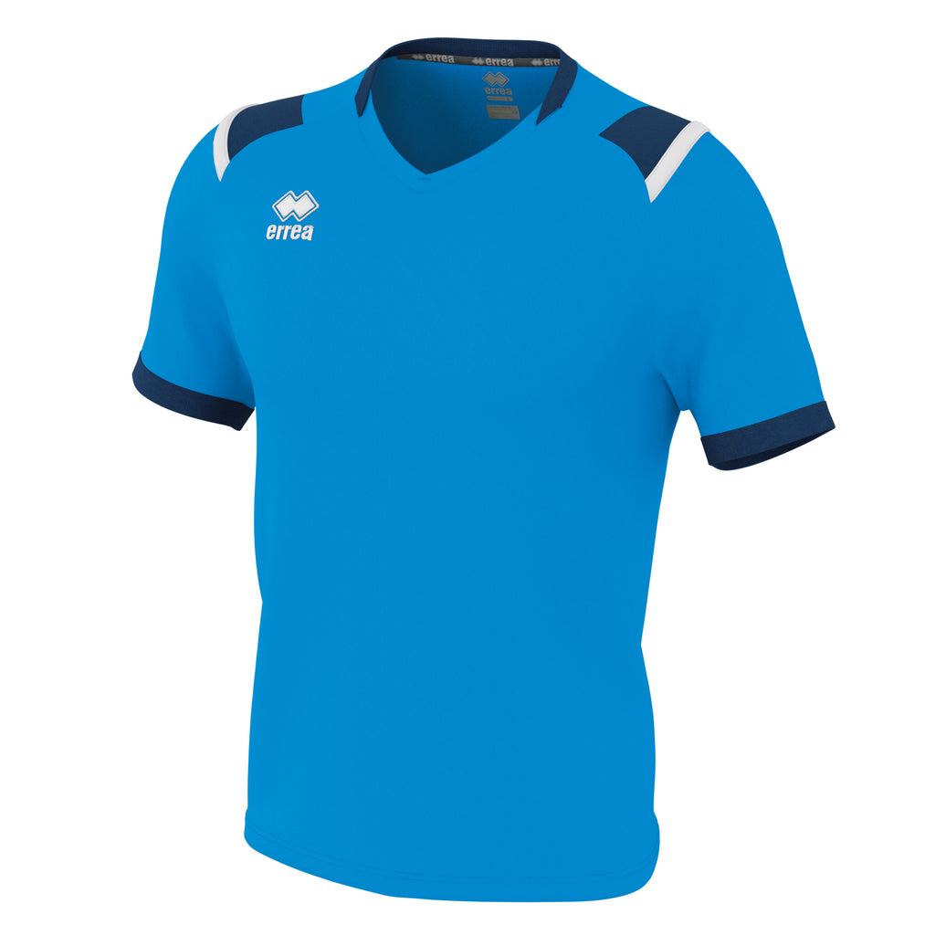 Errea Lucas Short Sleeve Shirt (Cyan/Navy/White)