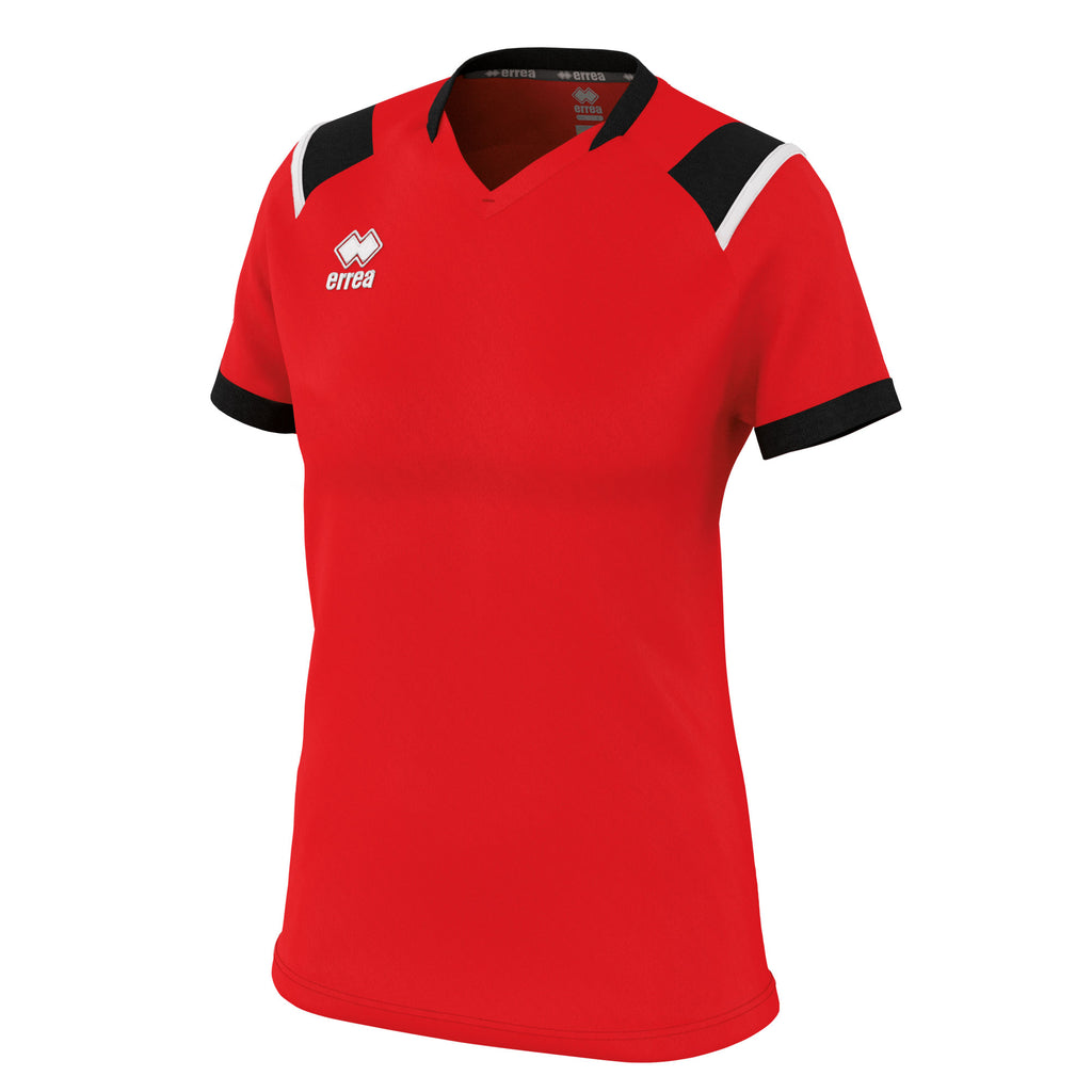 Errea Women's Lenny Short Sleeve Shirt (Red/Black/White)