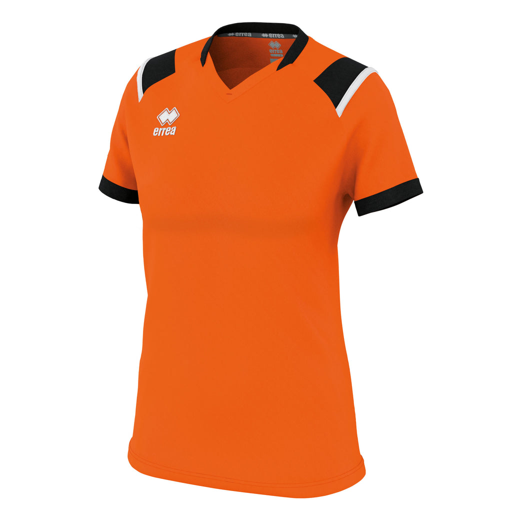 Errea Women's Lenny Short Sleeve Shirt (Orange/Black/White)