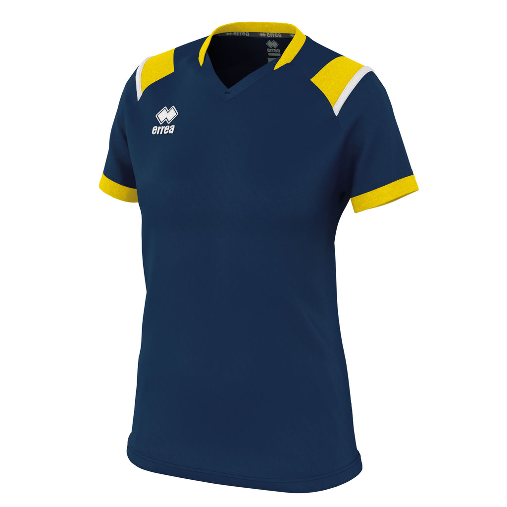 Errea Women's Lenny Short Sleeve Shirt (Navy/Yellow/White)