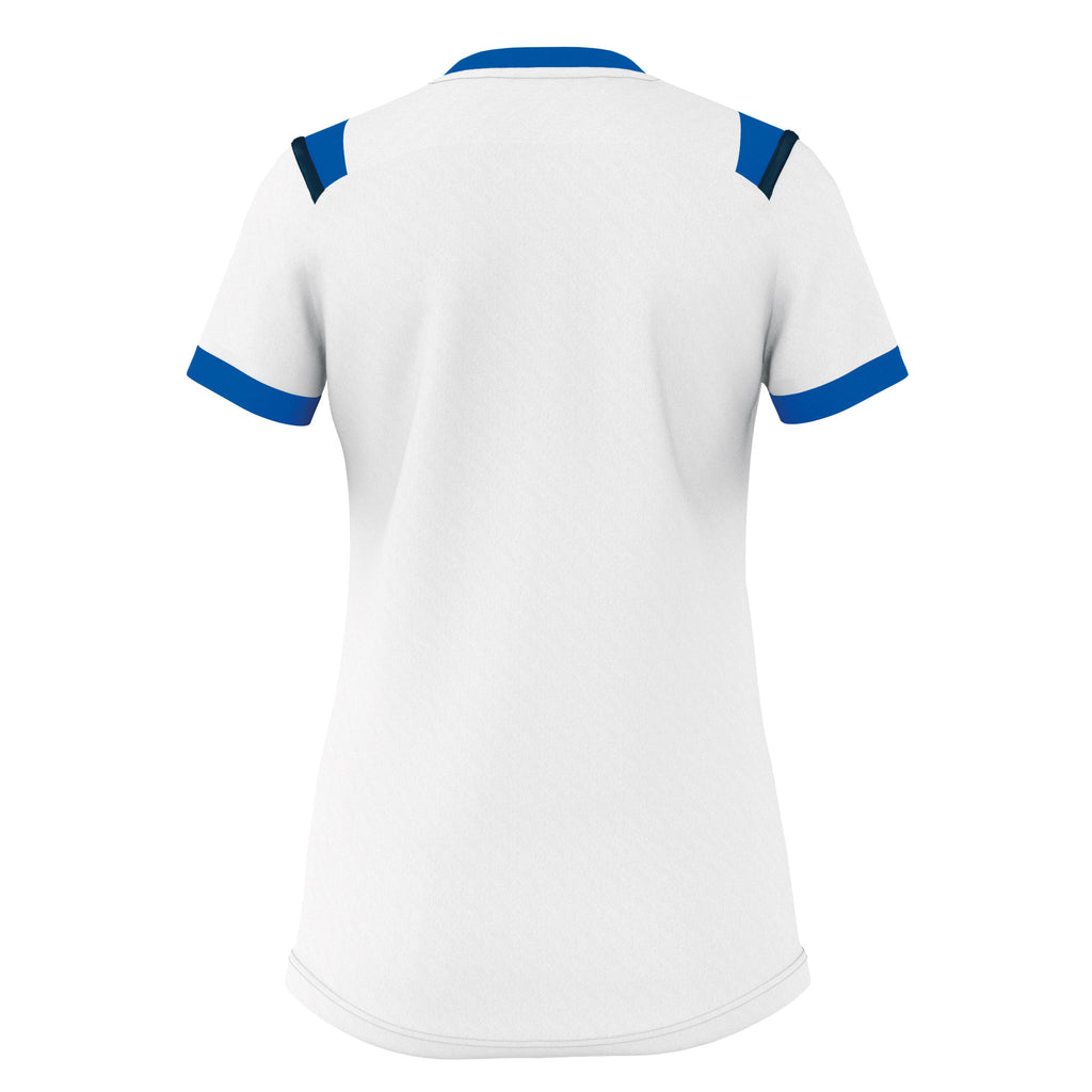 Errea Women's Lenny Short Sleeve Shirt (White/Blue/Navy)
