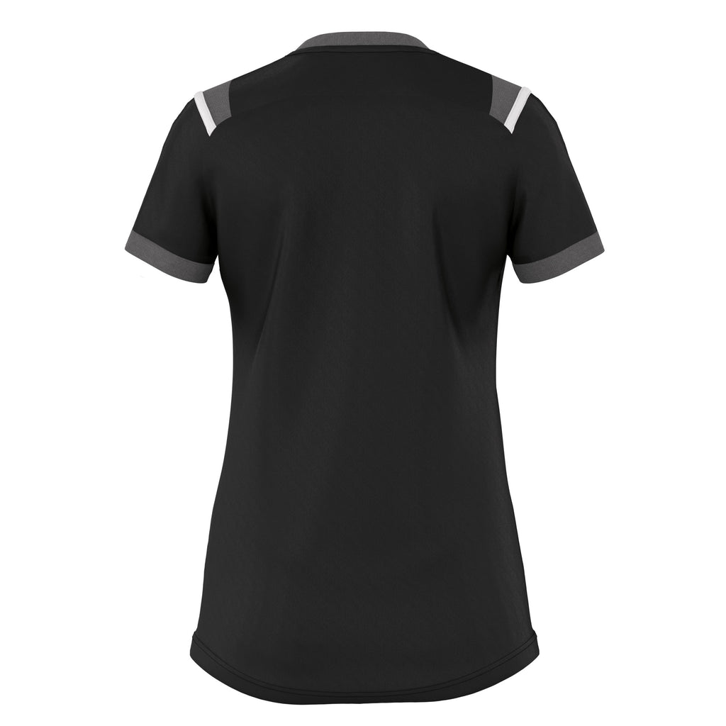 Errea Women's Lenny Short Sleeve Shirt (Black/Anthracite/White)