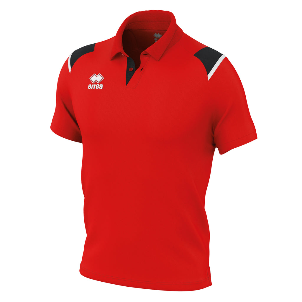 Errea Luis Polo Shirt (Red/Black/White)