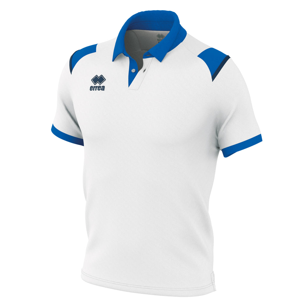 Errea Luis Polo Shirt (White/Blue/Navy)