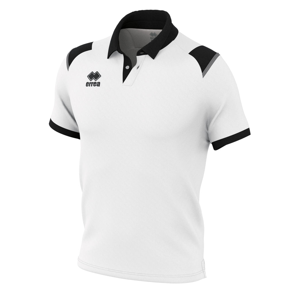 Errea Luis Polo Shirt (White/Black/Anthracite)
