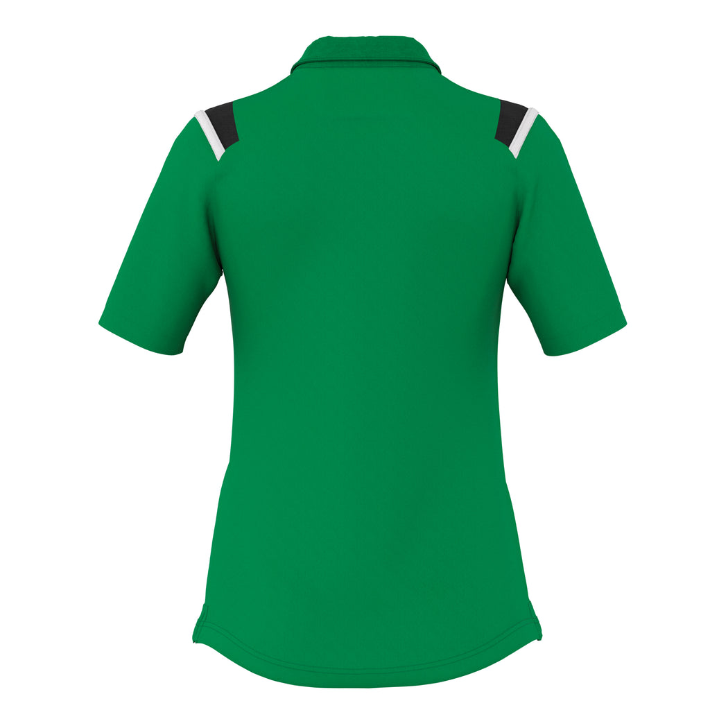 Errea Women's Leonor Polo Shirt (Green/Black/White)