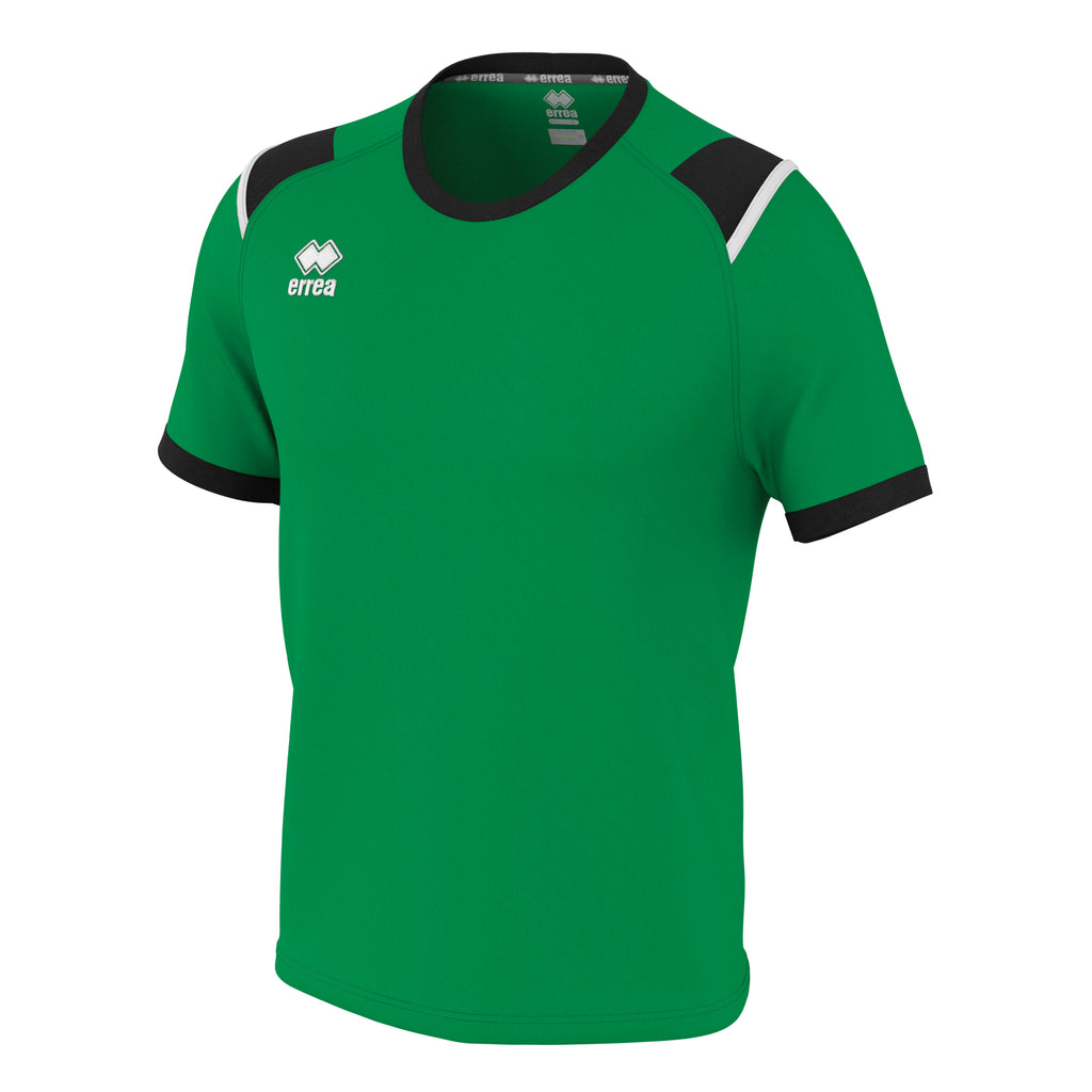 Errea Lex Short Sleeve Shirt (Green/Black/White)