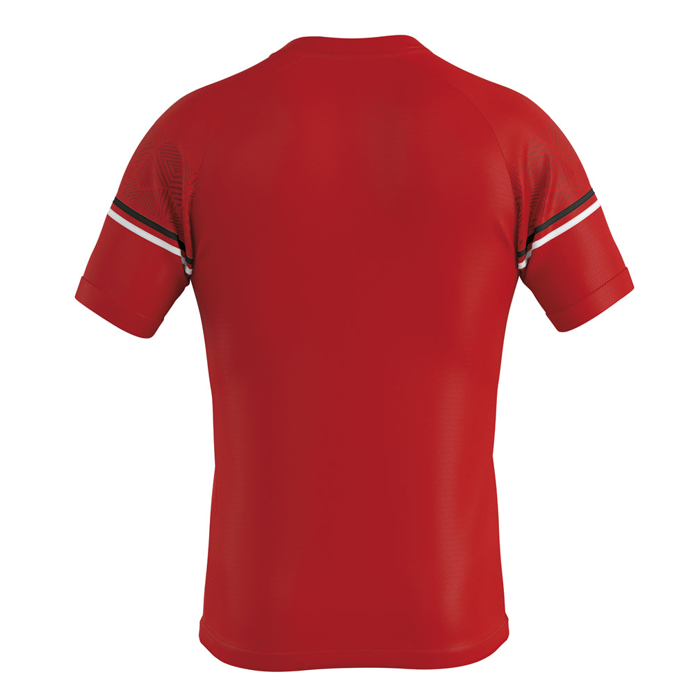 Errea Diamantis Short Sleeve Shirt (Red/Black/White)