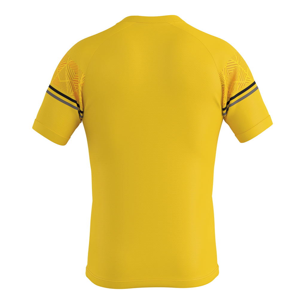 Errea Diamantis Short Sleeve Shirt (Yellow/Black/Anthracite)