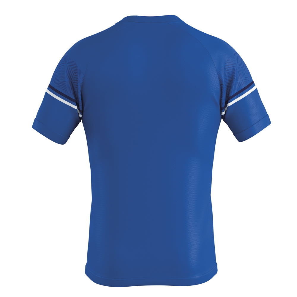 Errea Diamantis Short Sleeve Shirt (Blue/Navy/White)