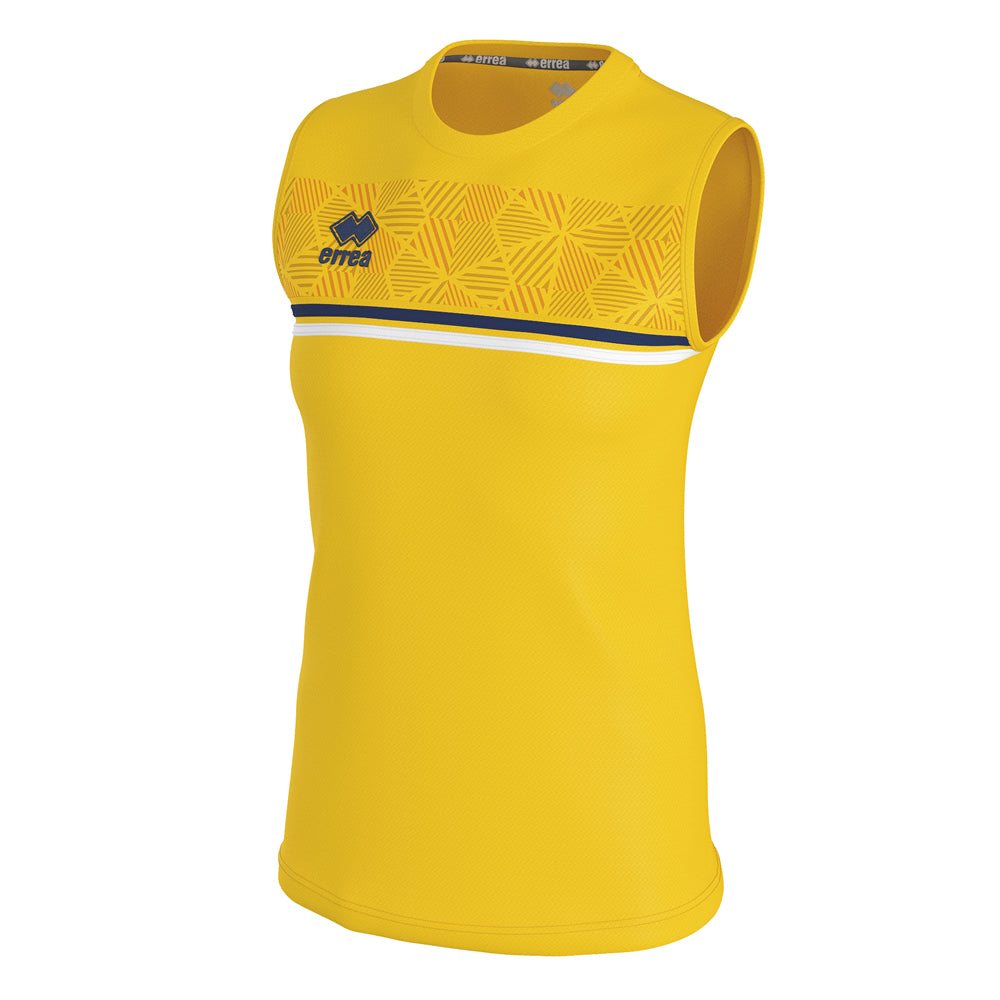 Errea Women's Divina Vest (Yellow/Navy/White)