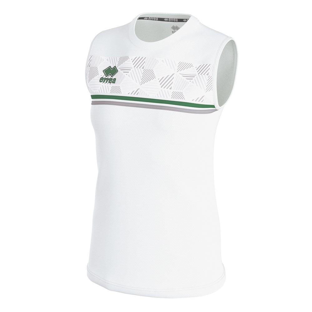 Errea Women's Divina Vest (White/Green/Grey)