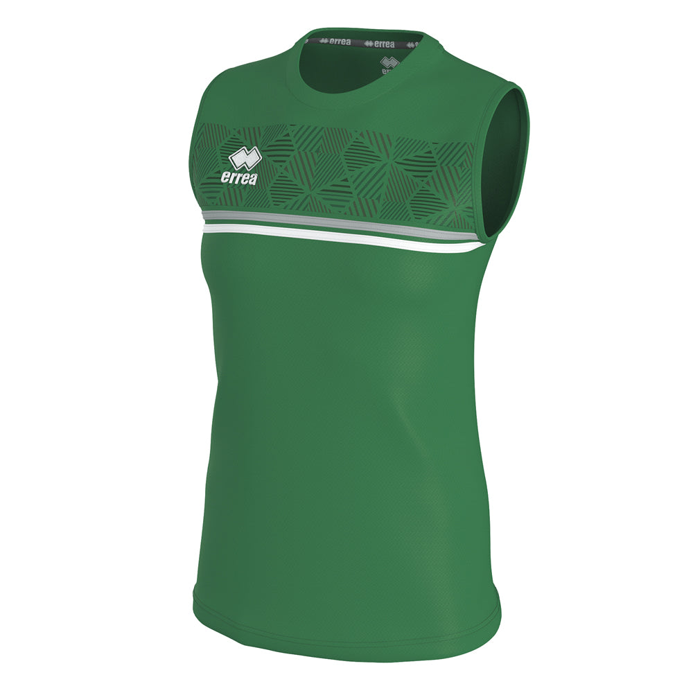 Errea Women's Divina Vest (Green/Grey/White)