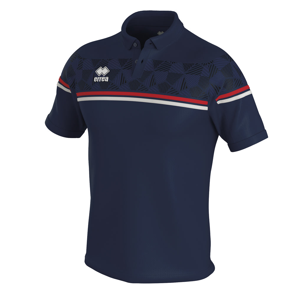 Errea Dominic Polo Shirt (Navy/Red/White)