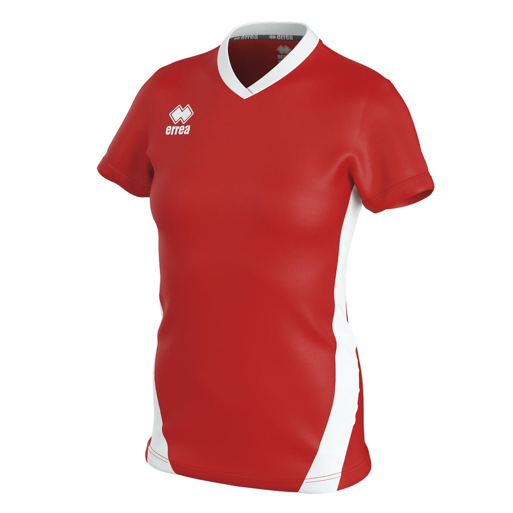 Errea Women's Brigit Short Sleeve Shirt (Red/White)