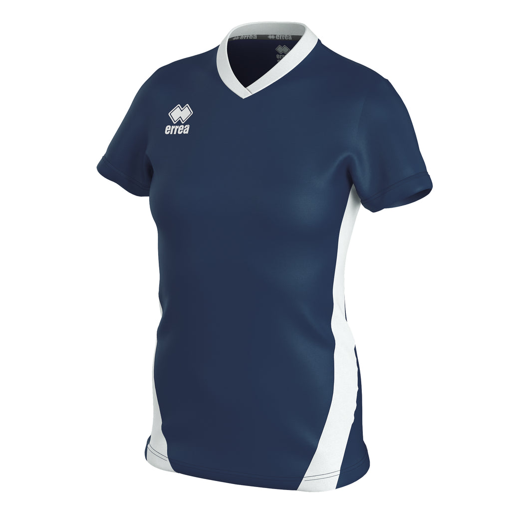 Errea Women's Brigit Short Sleeve Shirt (Navy/White)