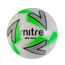 Load image into Gallery viewer, Mitre Impel Futsal Training Football (White/Green)