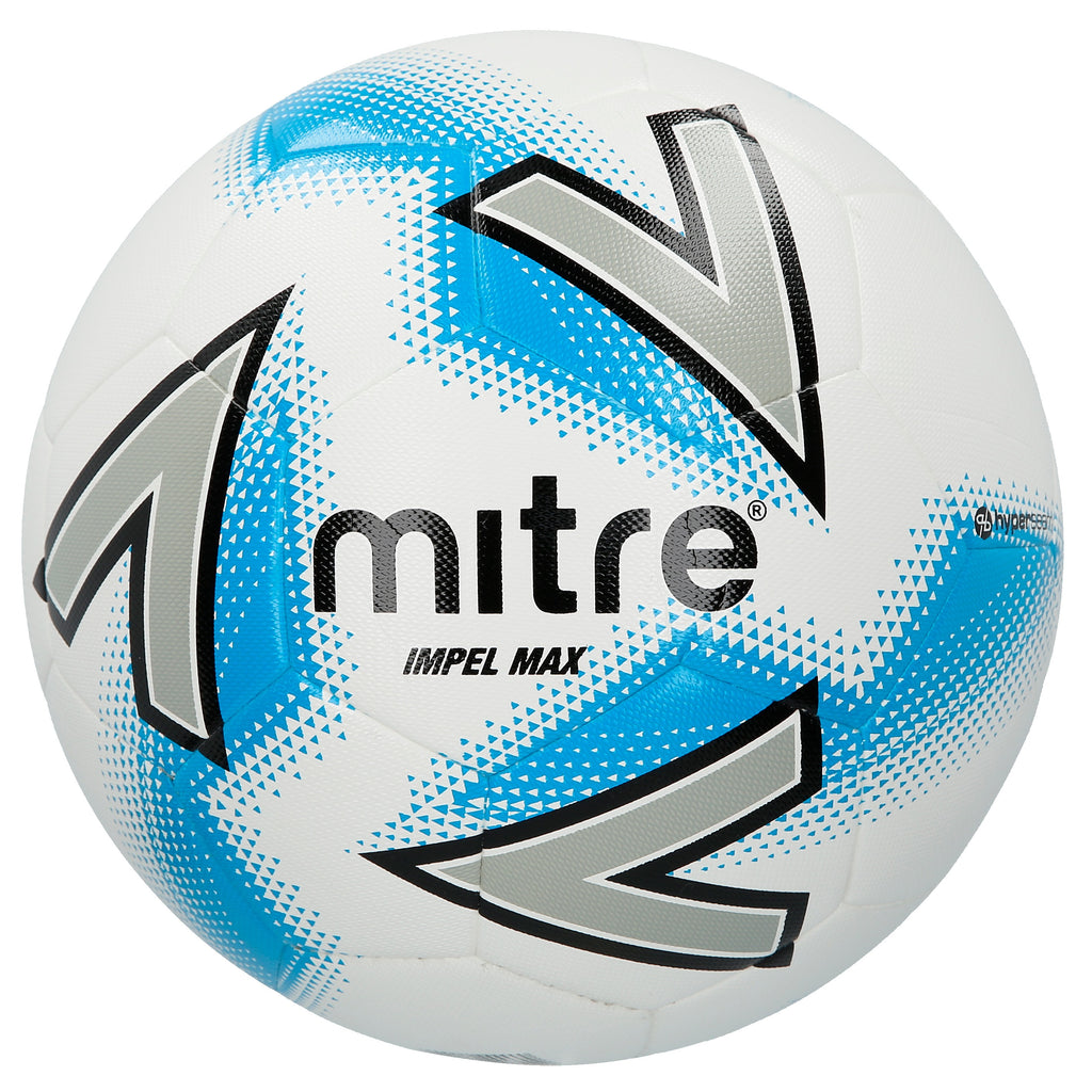Mitre Impel Max Top-Level Training Football (White/Silver/Blue)