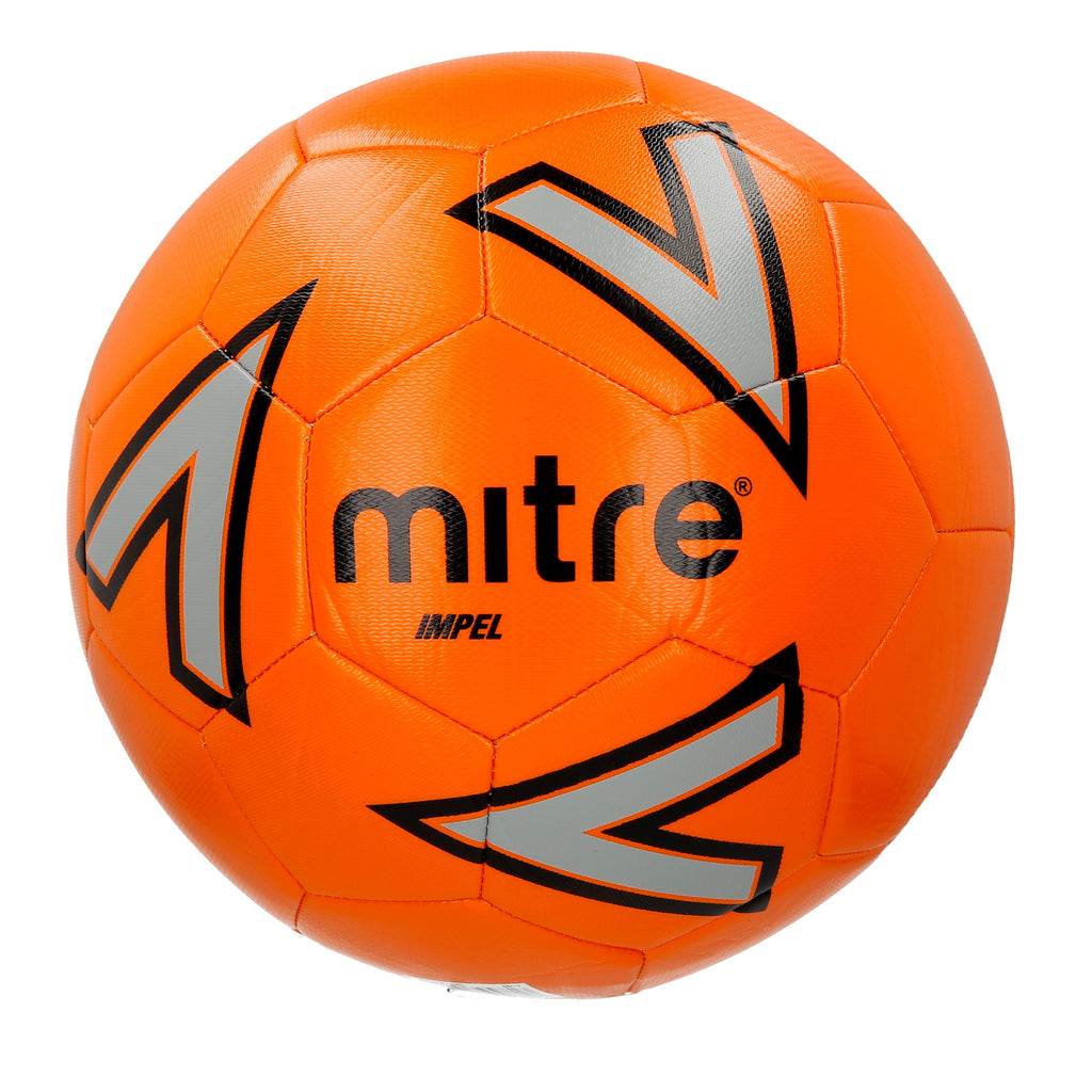 Mitre Impel Base-Level Training Football (Orange/Silver/Black)