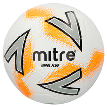 Load image into Gallery viewer, Mitre Impel Plus Mid-Level Training Football (White/Silver/Orange)
