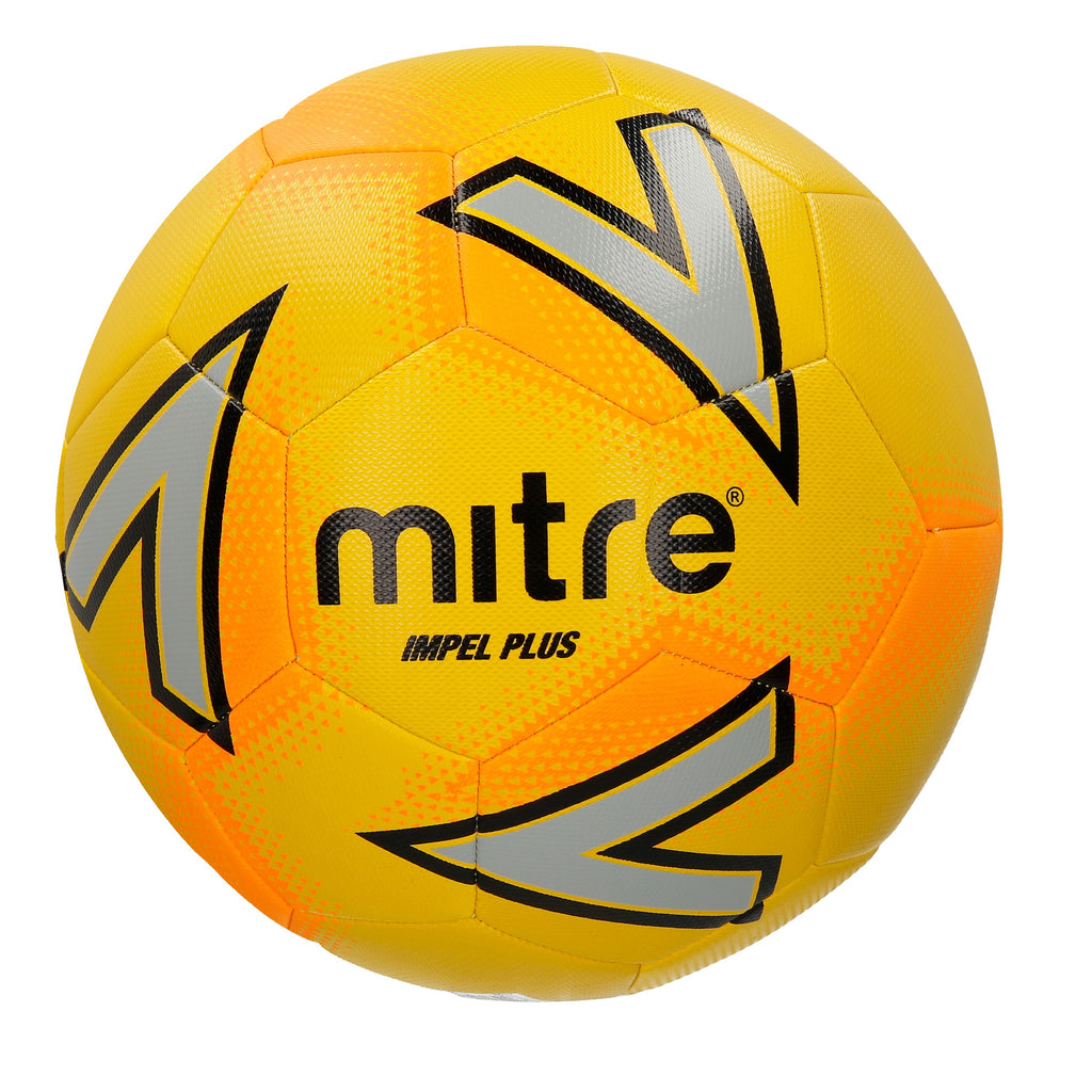 Mitre Impel Plus Mid-Level Training Football (Yellow/Silver/Orange)