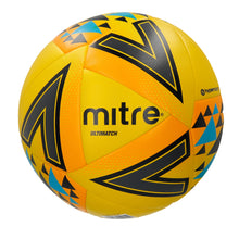 Load image into Gallery viewer, Mitre Ultimatch Base-Level Match Football (Yellow/Orange/Black)