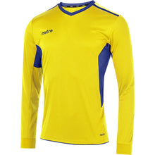 Load image into Gallery viewer, Mitre Diverge LS Football Shirt (Yellow/Royal)