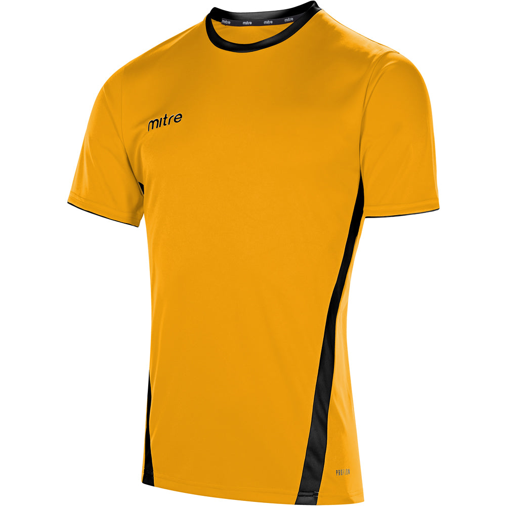 Mitre Origin SS Football Shirt (Amber/Black)