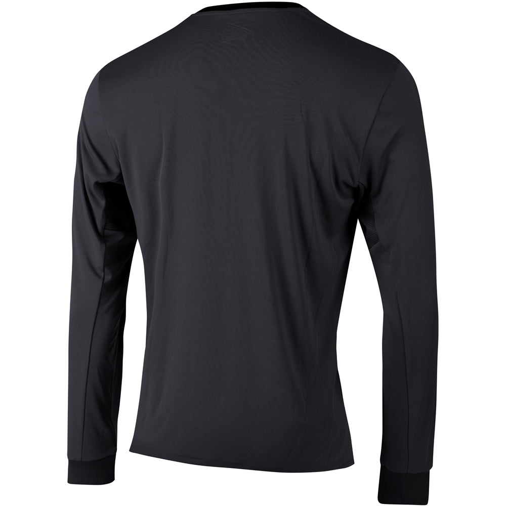 Mitre Zone LS Referee Shirt (Black/White)