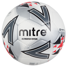 Load image into Gallery viewer, Mitre Ultimatch Futsal Match Level Football (White/Red/Black)