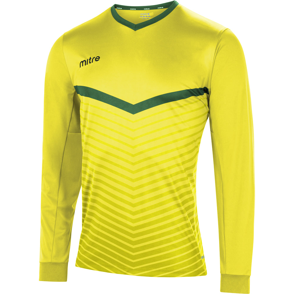 Mitre Unite LS Football Shirt (Yellow/Emerald)